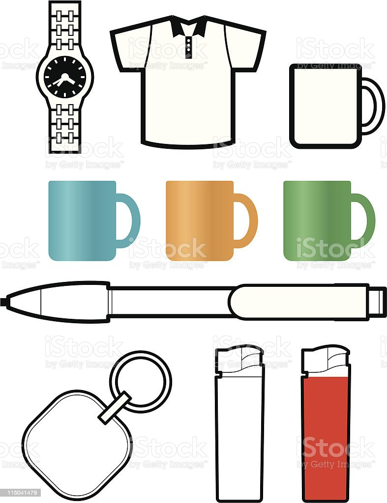 promotional gift templates royalty-free stock vector art