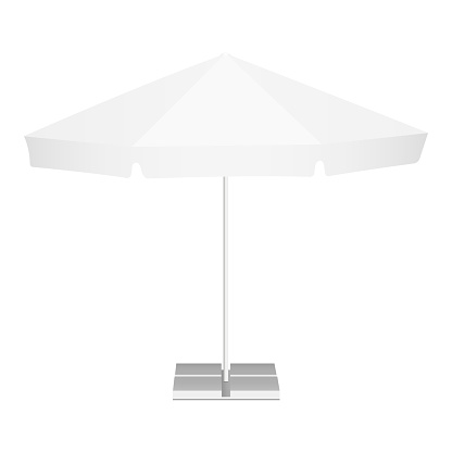 Promotional outdoor garden parasol with classic round canopy