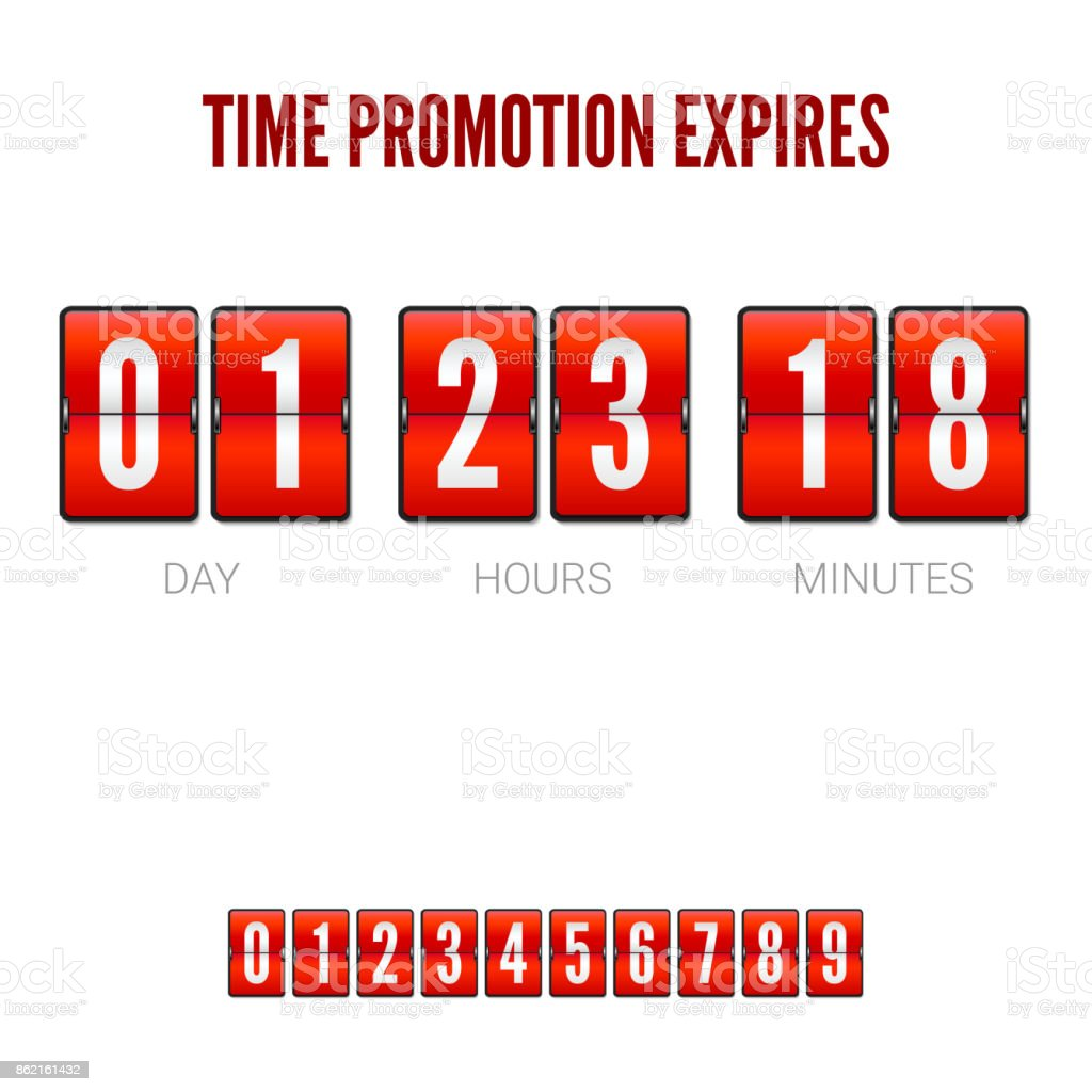Promotions Expires Analog Flip Clock Timer Template Of Flip ...