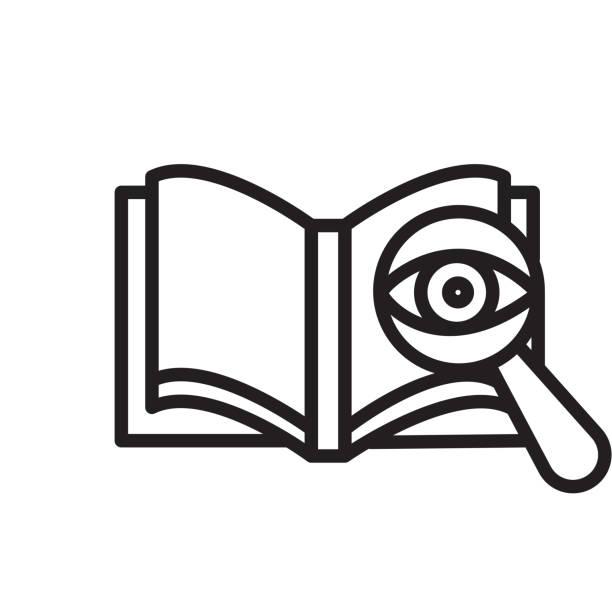 korrekturlesen symbol isoliert auf weißem hintergrund - korrekturlesen stock-grafiken, -clipart, -cartoons und -symbole