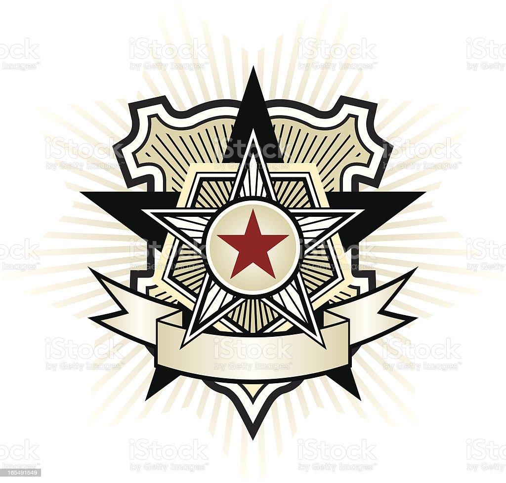 Propaganda badge royalty-free stock vector art