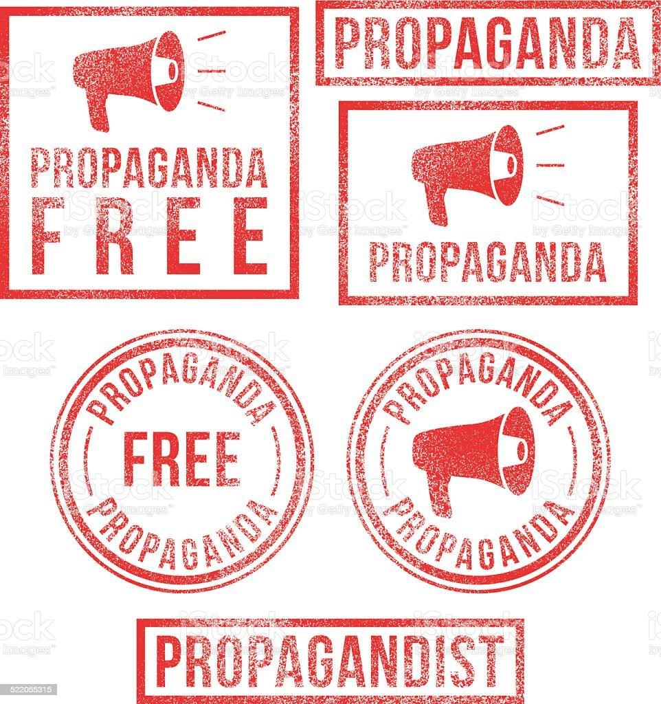 Propaganda rubber stamps vector art illustration