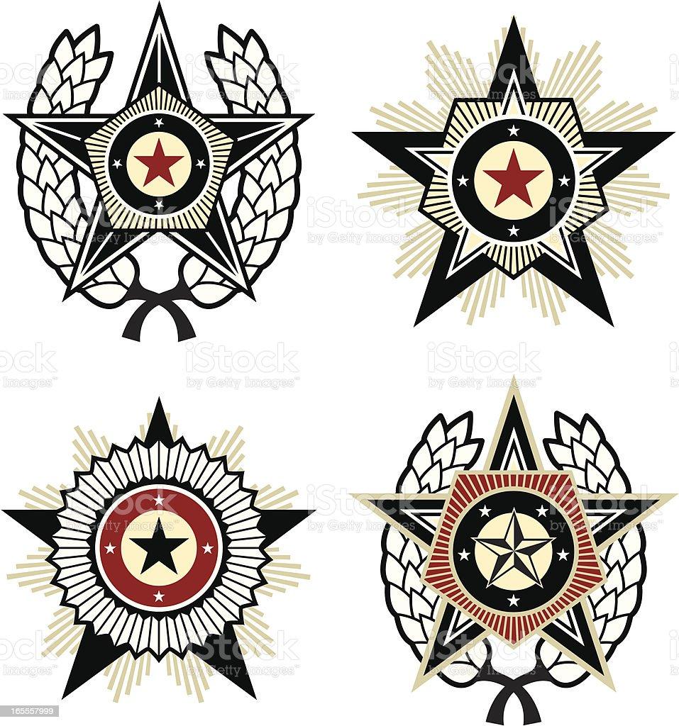Propaganda style emblems royalty-free stock vector art