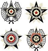 Propaganda style emblems