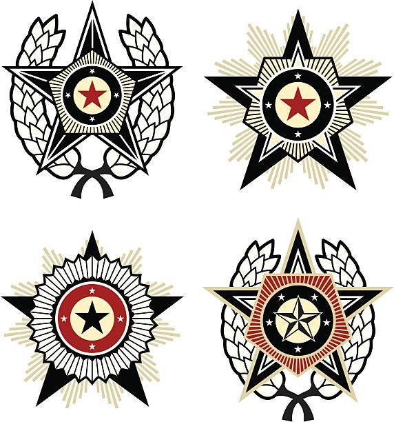 ilustraciones, imágenes clip art, dibujos animados e iconos de stock de propaganda estilo emblems - rusia