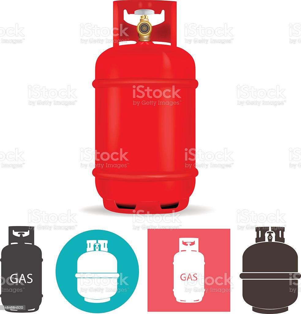 Propane gas container vector art illustration