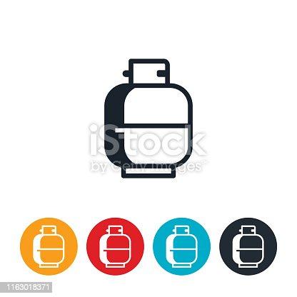 An icon of a propane tank.
