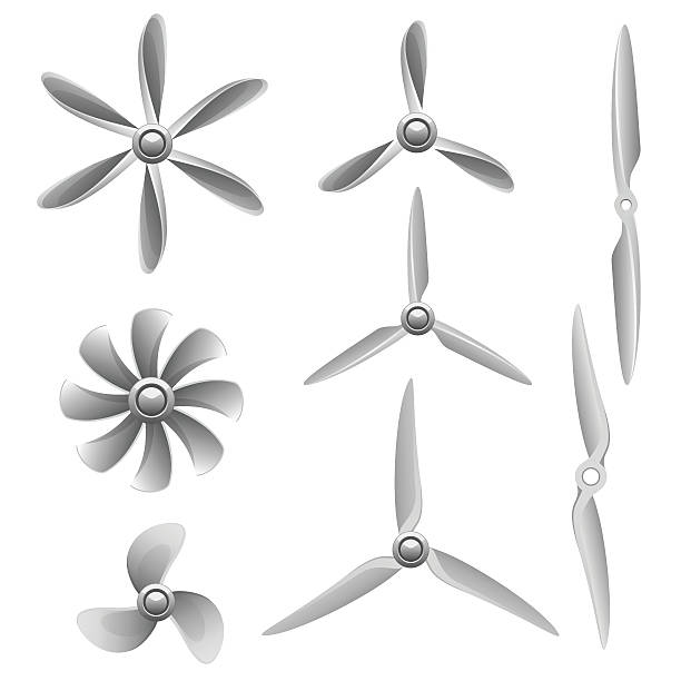 propellers - pervane stock illustrations