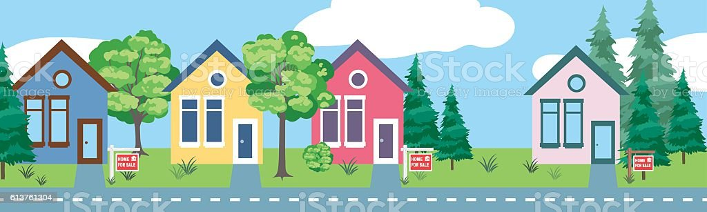 Properties for Sale Real Horizontal Banner ベクターアートイラスト