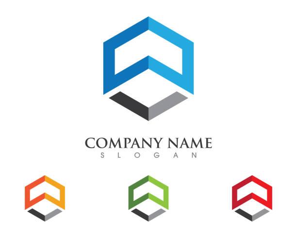illustrations, cliparts, dessins animés et icônes de icône de propriété et de la construction - logos immobilier