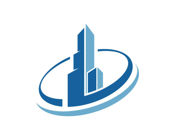 property and construction icon - real estate logos stock illustrations, clip art, cartoons, & icons