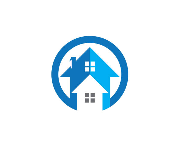 Property and Construction icon vector art illustration