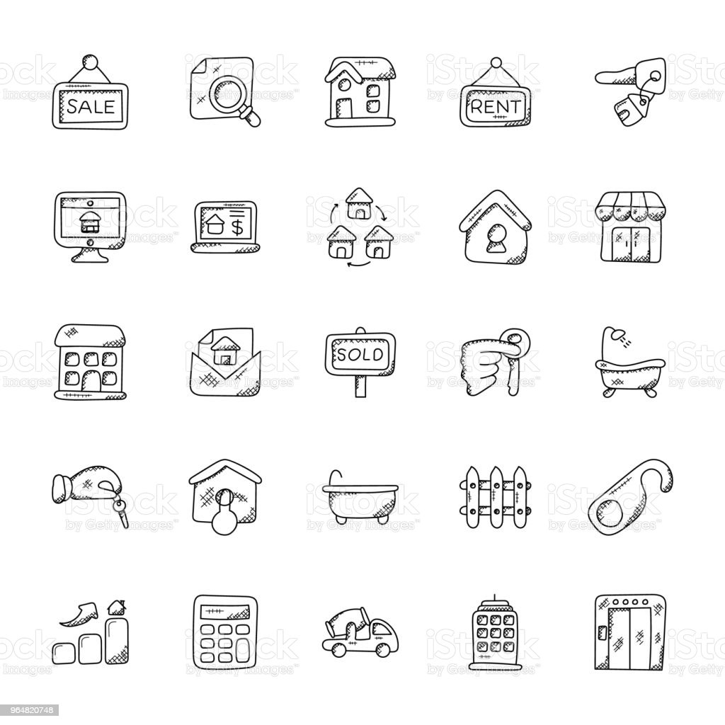 Property and Real Estate Vector Icons Set royalty-free property and real estate vector icons set stock vector art & more images of bathroom