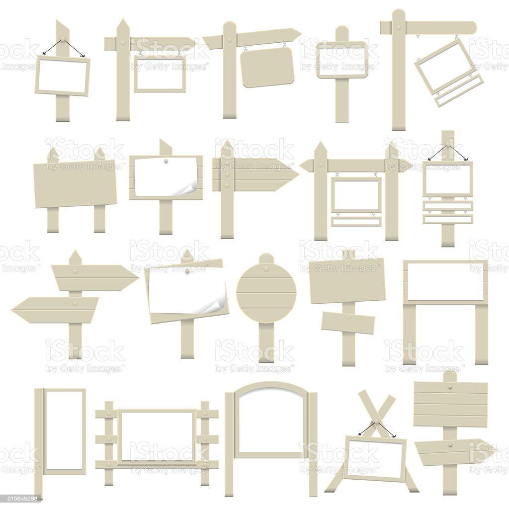 Property board icons vector art illustration