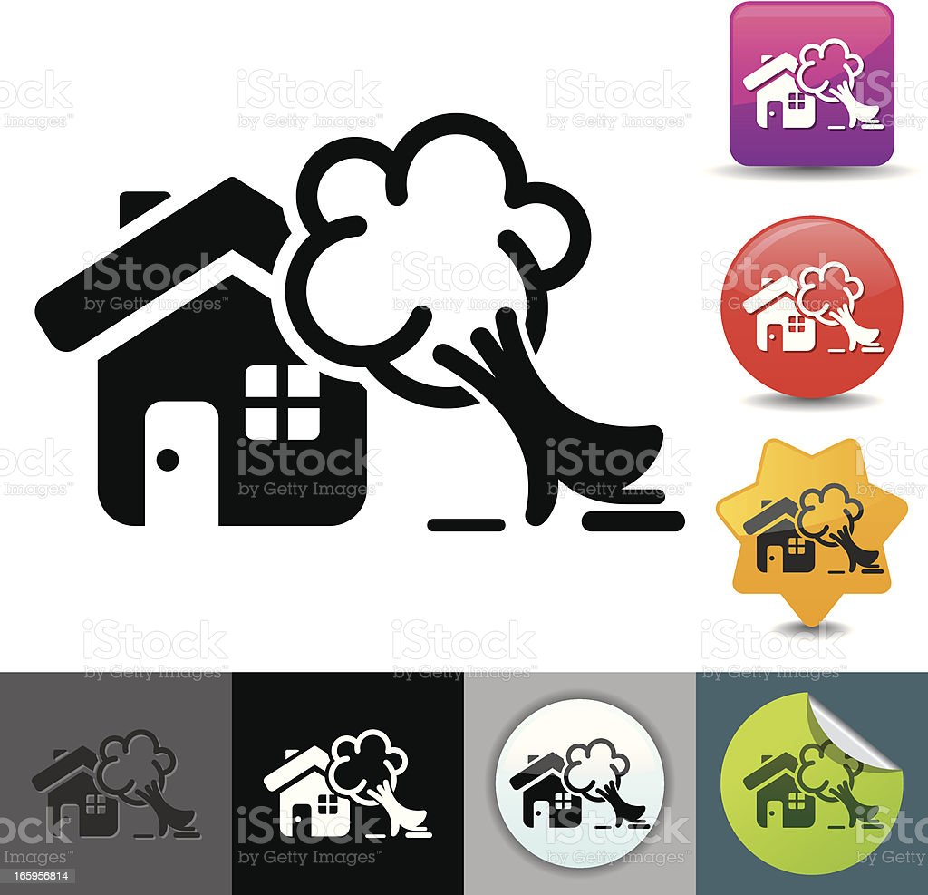 Property damage insurance icon | solicosi series royalty-free stock vector art