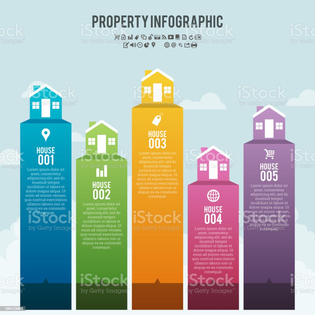 Property Infographic Banner vector art illustration