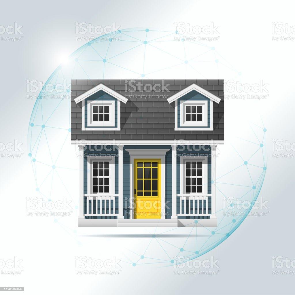 Wonderful Eigenschaft Versicherungskonzept Mit Kleinen Haus Geschützt In Polygonaler  Bereich Schild, Vektor, Abbildung Lizenzfreies Eigenschaft