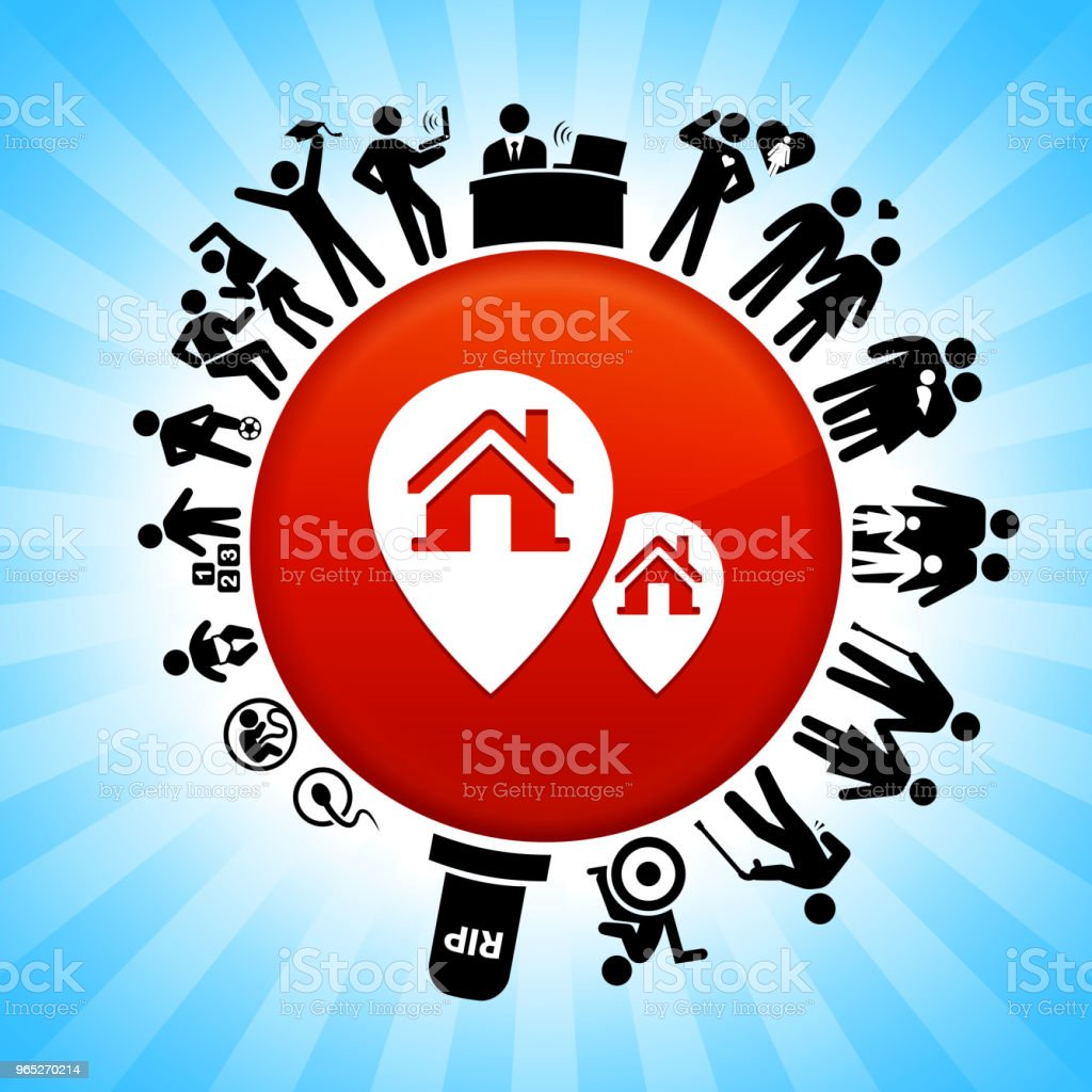 Property Locations Lifecycle Stages of Life Background royalty-free property locations lifecycle stages of life background stock vector art & more images of adolescence