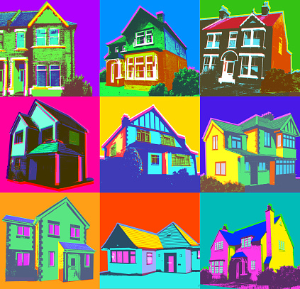 Property or Real Estate set - Houses