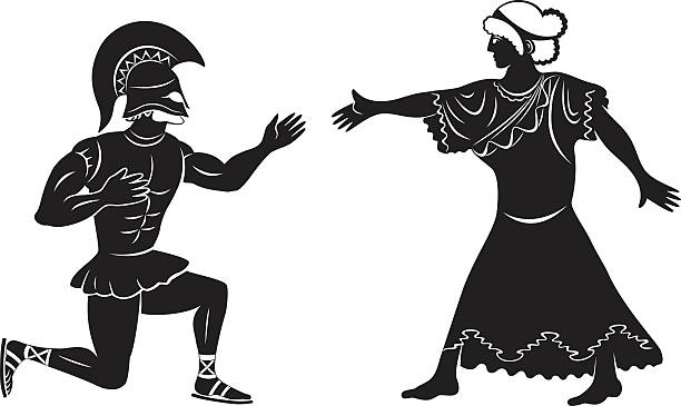 proposal for marriage Hercules makes a proposal to the wedding ancient greece stock illustrations