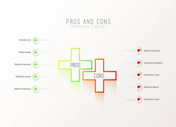 royalty free pros cons clip art vector images illustrations istock