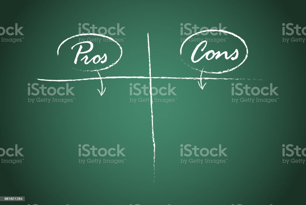 pros and cons comparison vector template stock vector art more