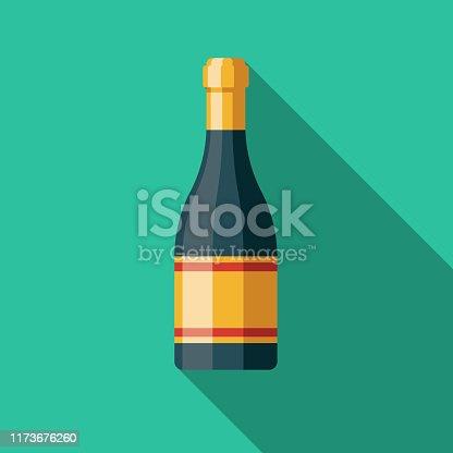 istock Prosecco Italian Food Icon 1173676260