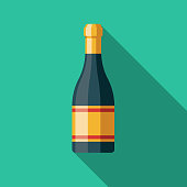 A flat design Italian food icon with a long shadow. File is built in the CMYK color space for optimal printing. Color swatches are global so it's easy to change colors across the document.