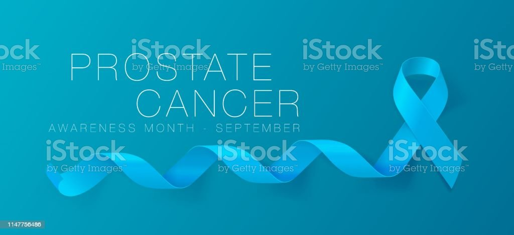 Prostate Cancer Awareness Calligraphy Poster Design. Realistic Light...