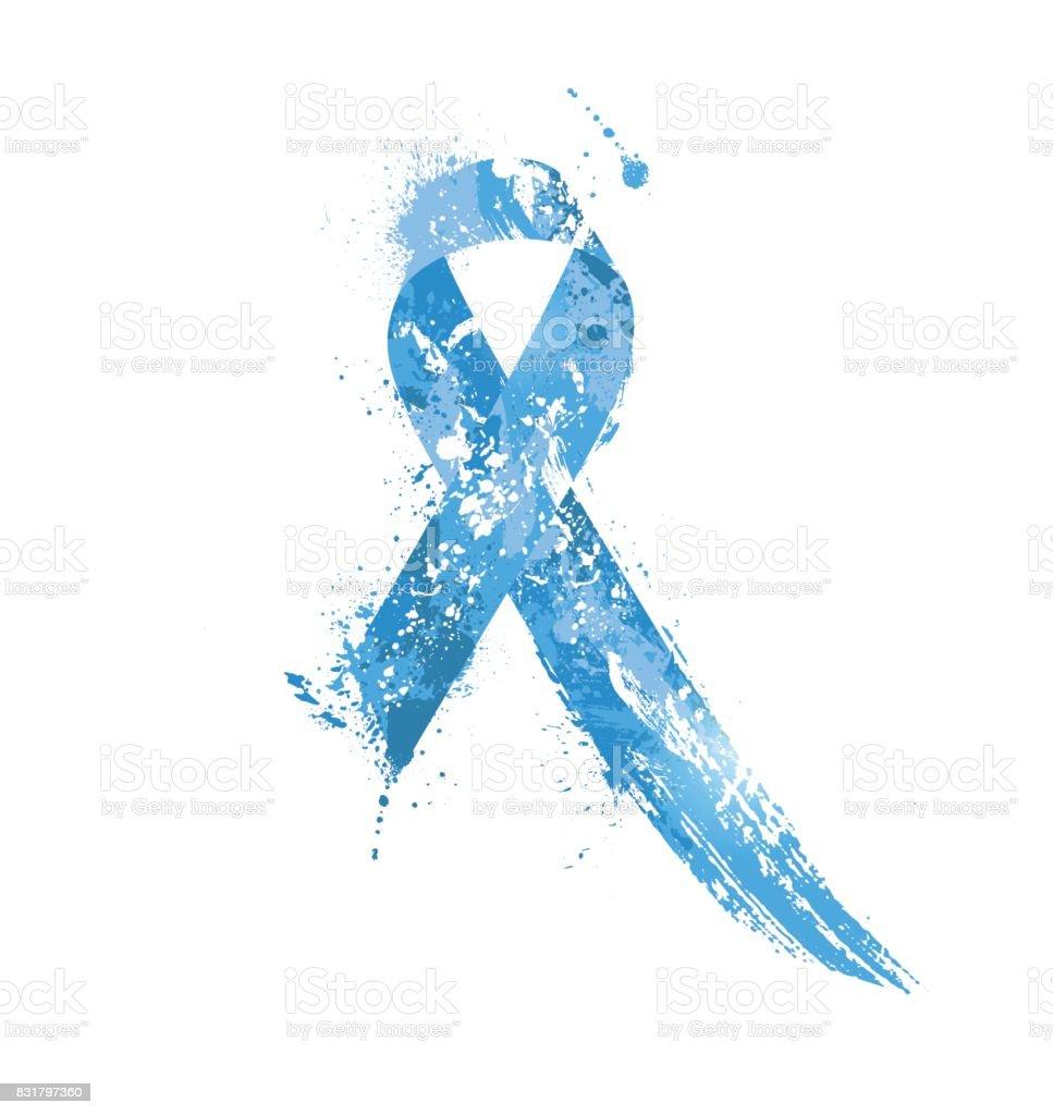 Prostate Cancer Awareness Ribbon. vector art illustration