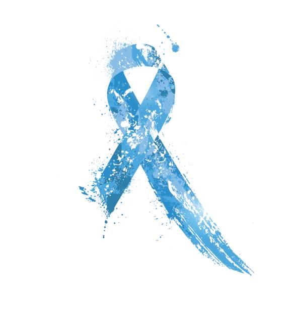ilustraciones, imágenes clip art, dibujos animados e iconos de stock de cinta del conocimiento del cáncer de próstata. - símbolo societal