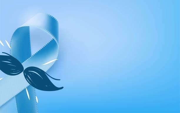 stockillustraties, clipart, cartoons en iconen met prostaatkanker bewustzijn blauw lint achtergrond. - prostaatkanker