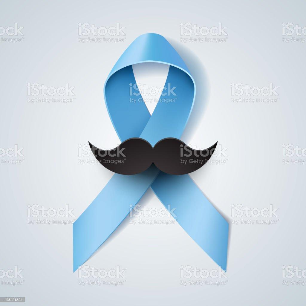 Prostate cancer ribbon awareness vector art illustration