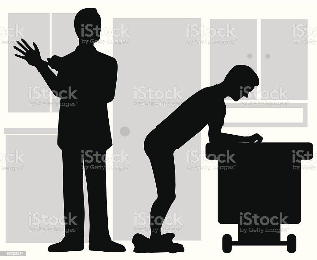Prostate Examination vector art illustration