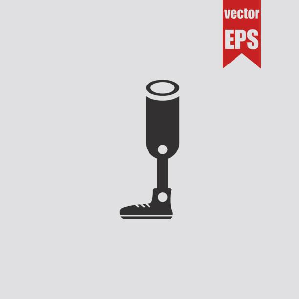 Prosthesis for the leg icon.Vector illustration. vector art illustration