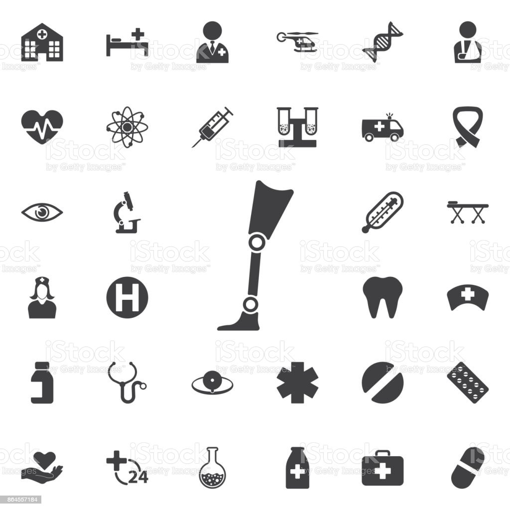 Prosthesis icon vector art illustration