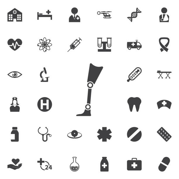 Prosthesis icon vector art illustration