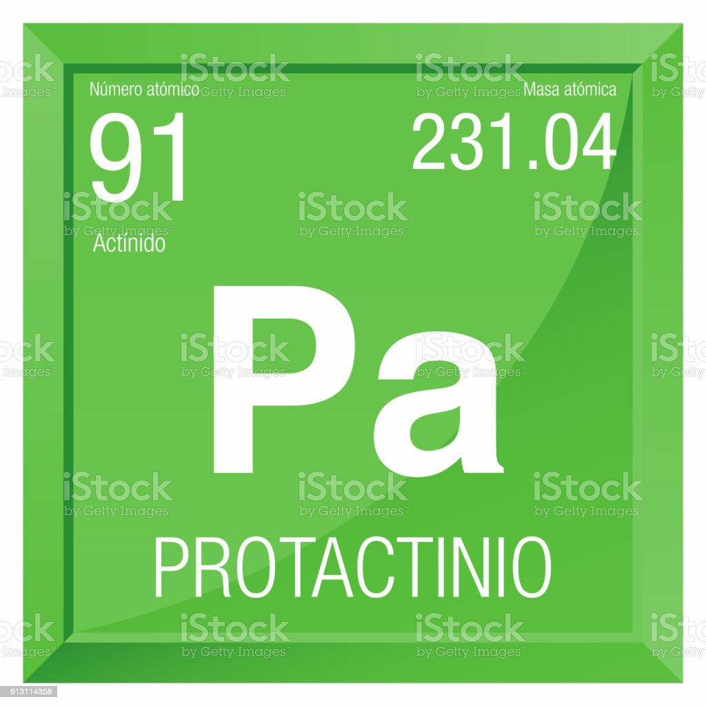 Protactinio Symbol Protactinium In Spanish Language Element Number ...