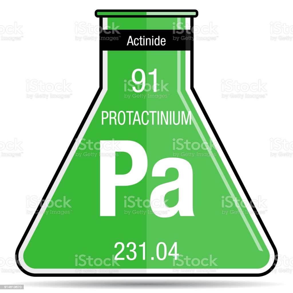 Protactinium symbol on chemical flask element number 91 of the protactinium symbol on chemical flask element number 91 of the periodic table of the elements urtaz Gallery