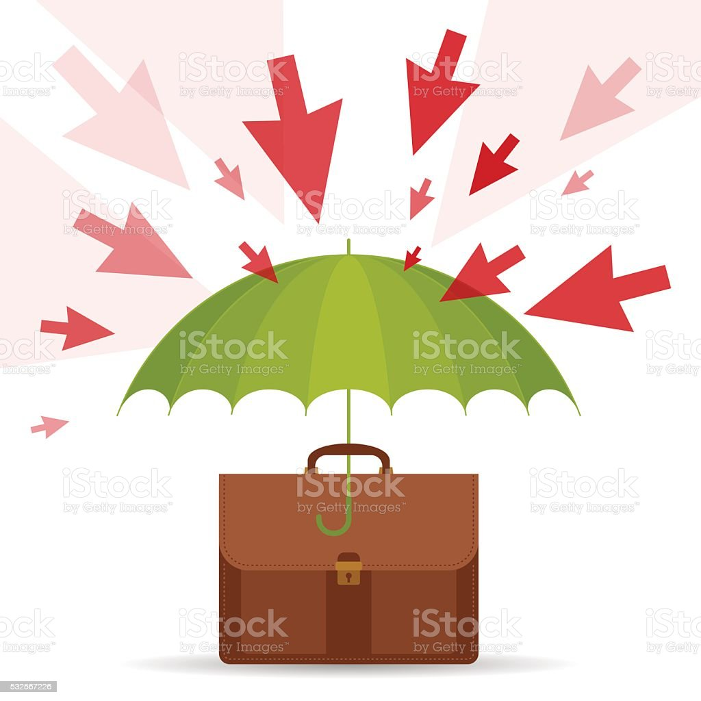 Protect and safety vector illustration of umbrella business case vector illustration of umbrella business case risks royalty colourmoves