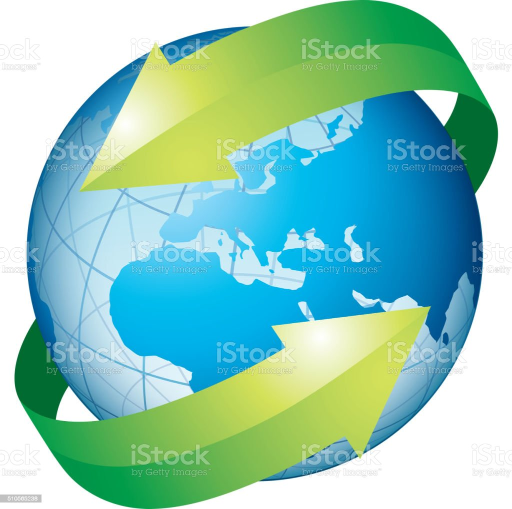 Protect earth vector art illustration
