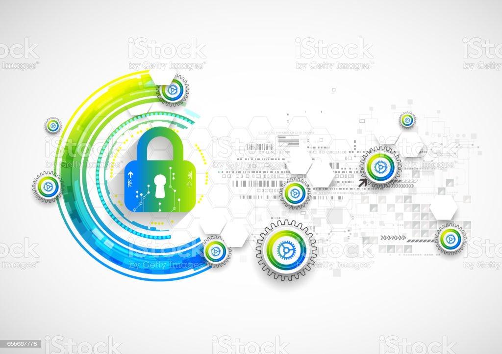 Protect mechanism, system privacy, vector illustration vector art illustration