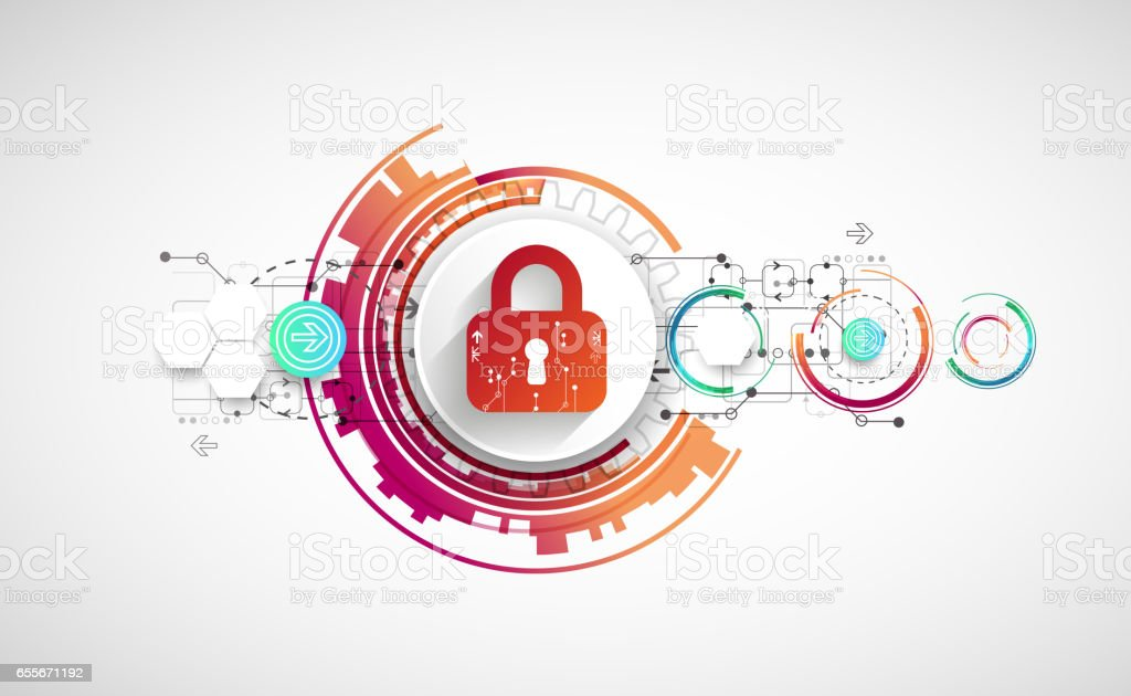 Protect mechanism, system privacy, vector illustration vector art illustration