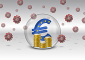 European currency crisis due to the COVID19 pandemic
