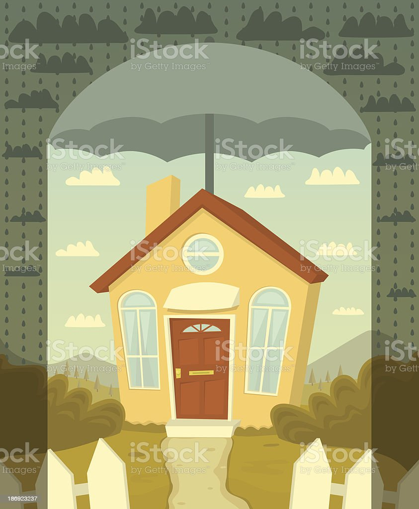 Protect your home royalty-free protect your home stock vector art & more images of built structure