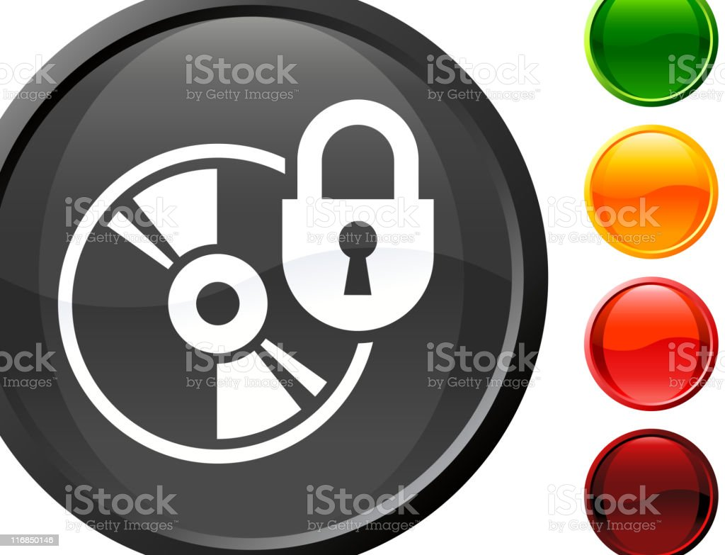 Protected data CD internet royalty free vector art royalty-free stock vector art