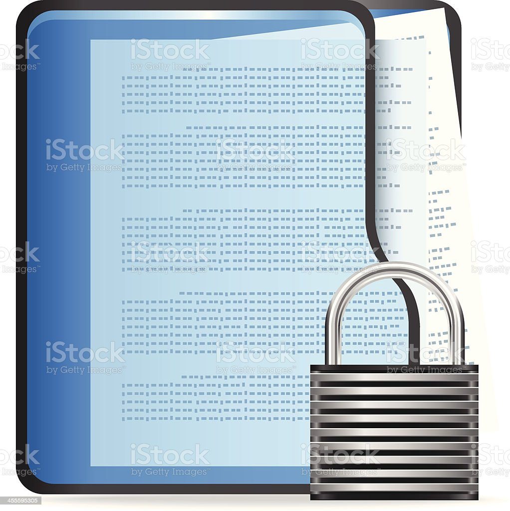 Protected Files royalty-free stock vector art