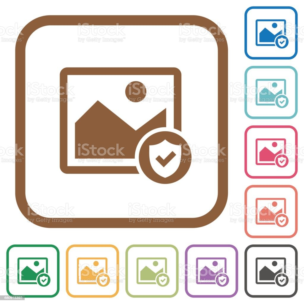 Protected image simple icons royalty-free protected image simple icons stock vector art & more images of art product