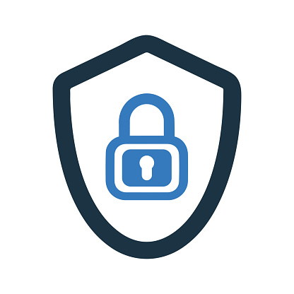 Protected, shield protection, security icon