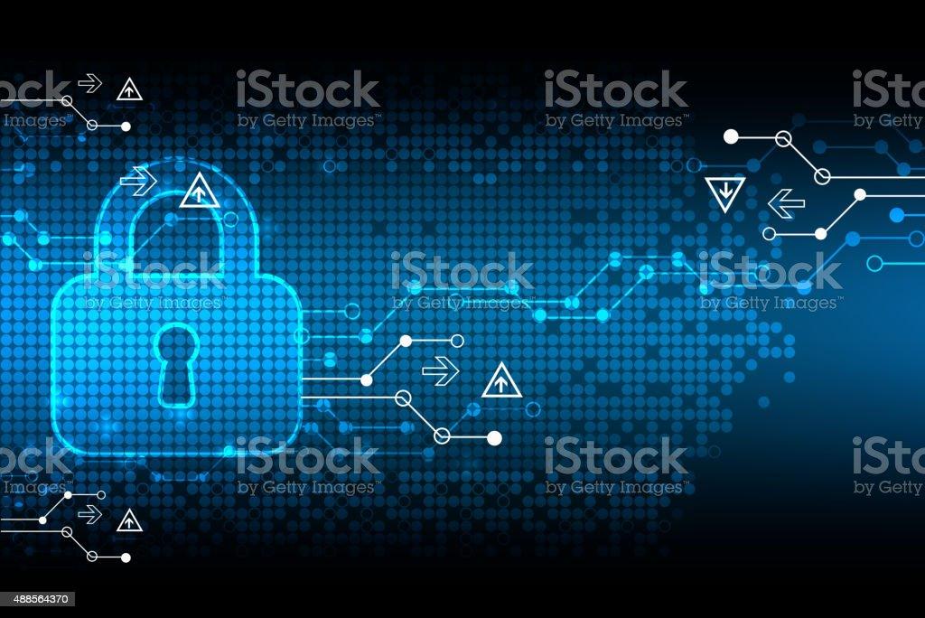 Protecting digital encoding. vector art illustration